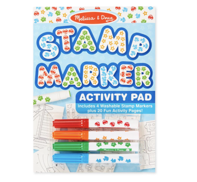 Stamp Markers and Activity Pad  Stars, Fish, Cars, and Frogs Melissa & Doug