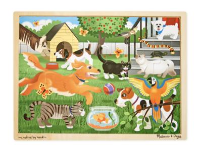 Pets Wooden 24Pc Jigsaw Melissa & Doug Puzzle