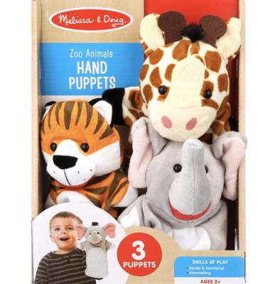 3 Zoo Animals Melissa & Doug Hand Puppets
