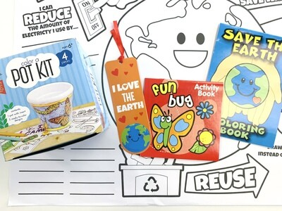 Earth Day Color A Pot Plant & Educational Kit