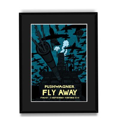 """""""FLY AWAY"""" - Innrammet og klart til å henges på vegg"""