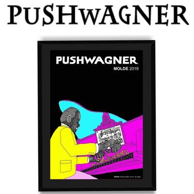 PUSHWAGNER - PIANO - Med Innramming