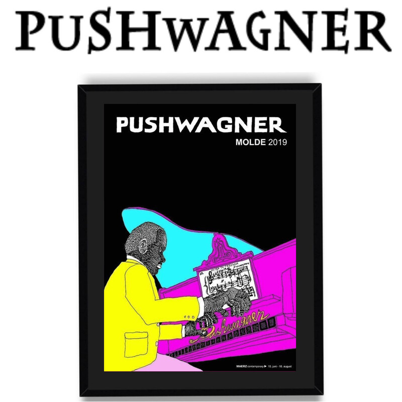 PUSHWAGNER - PIANO - Med Innramming