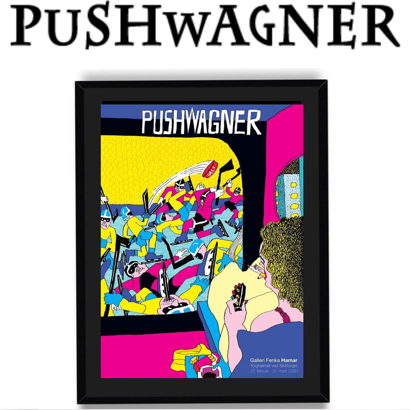 PUSHWAGNER - HOCKEY - Med Innramming
