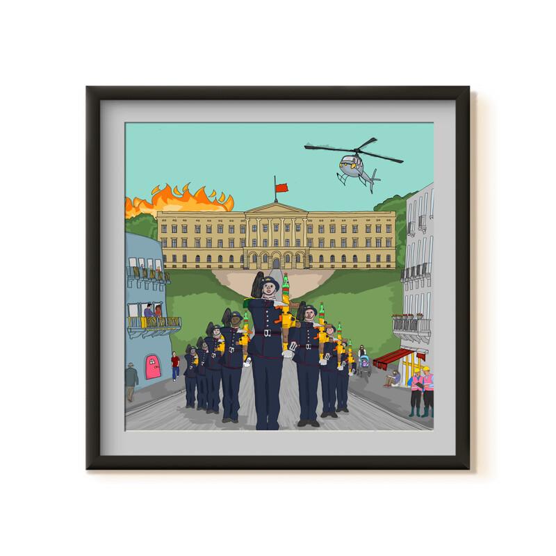 """""""Dagen Kongen Dør"""" Kunstverk Av Markus Günther"""