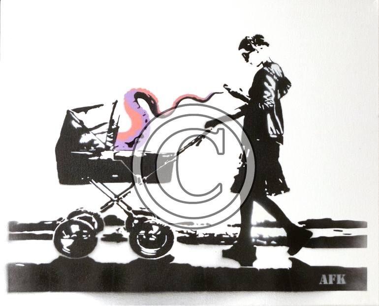 """AFK """"CONNECT"""" CANVAS/LERRET Gatekunstner fra Bergen"""