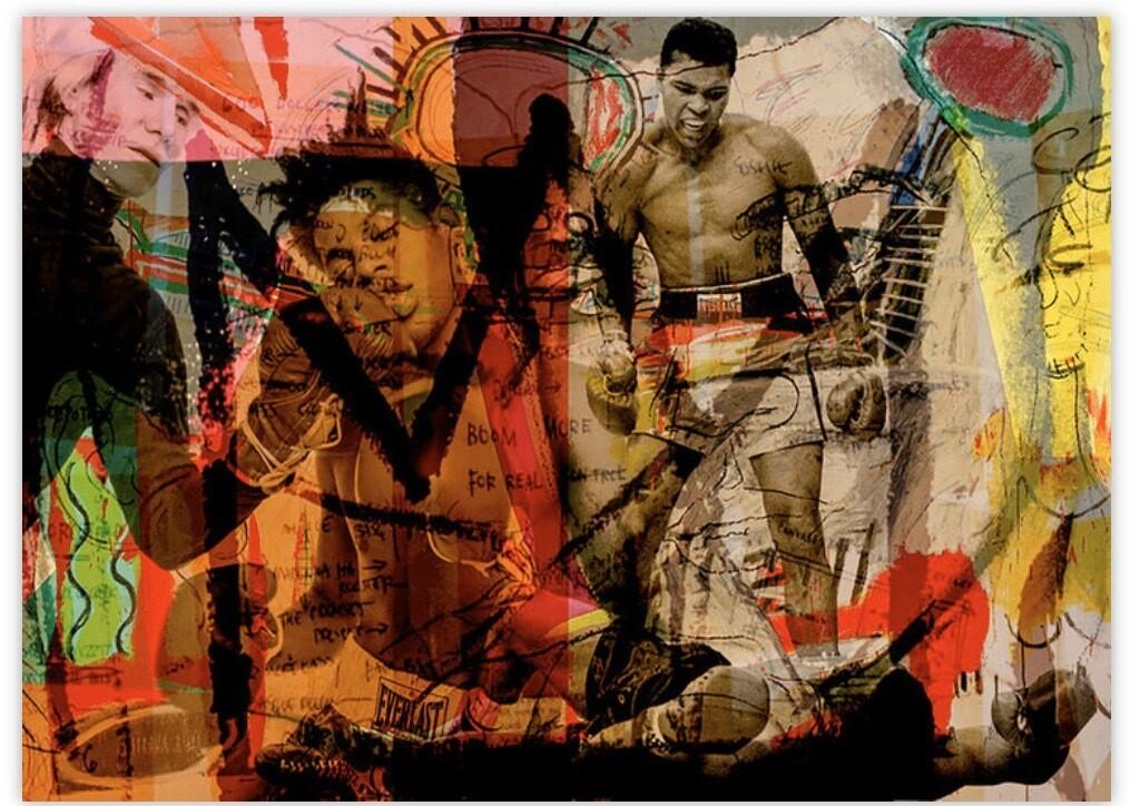 """""""Three Greats Artists Ali Warhol and Basquiat"""""""