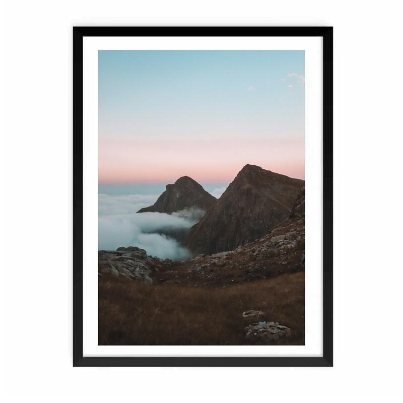 """""""Munkebu, Lofoten"""" Fotografi m/ramme"""