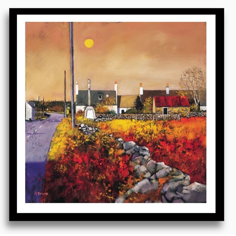 Galloway Village a Limited Edition Art Print by Davy Brown
