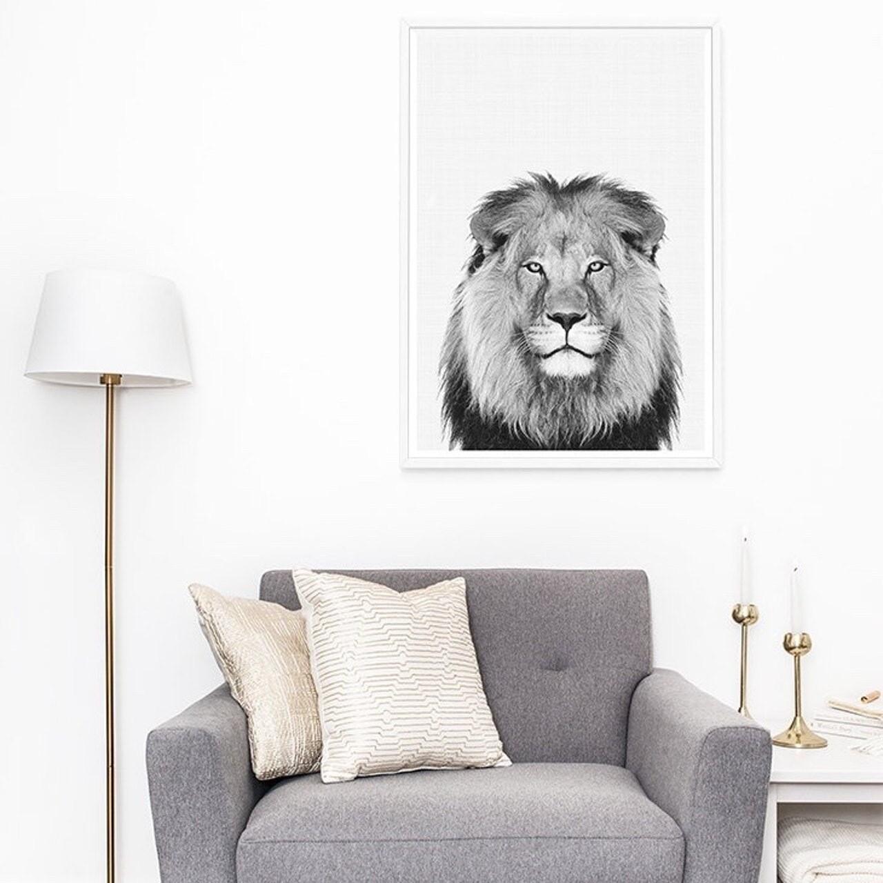 """""""Lion Portrait Art Print"""""""