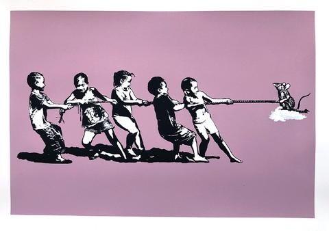 "Blek le Rat ""Rope Pulling (Pink)"""