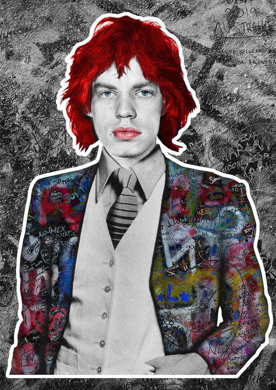 Mick Jagger - Handcolored Version