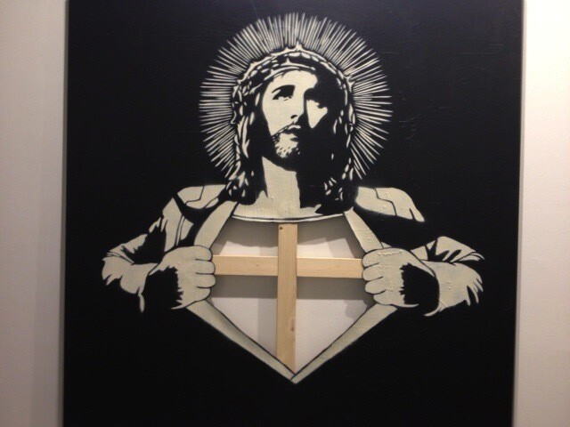 Streetartist: DOLK , Christ on Canvas