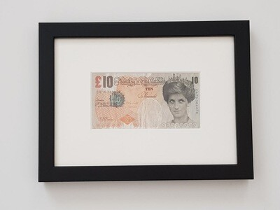 """BANKSY """"DI FACED TENNER"""" - FRAMED, COMPLETE WITH LETTER OF AUTHENTICITY FROM STEVE LAZARIDES"""
