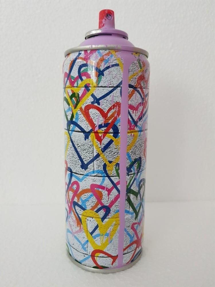 """Spraykanne Fra Verdenskjente: MR BRAINWASH - """"Love Hearts"""" Hand Embellished"""