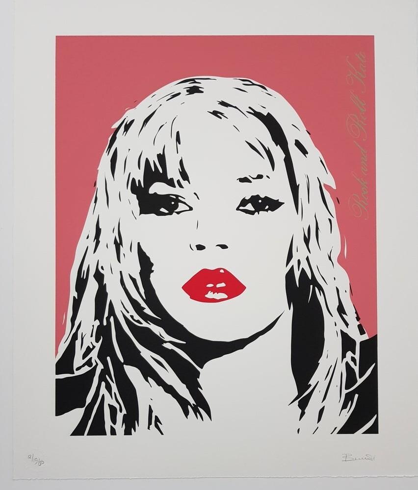 "BAMBI "" Rock And Roll Kate "" Dusky Pink Screenprint Ltd ed 40"