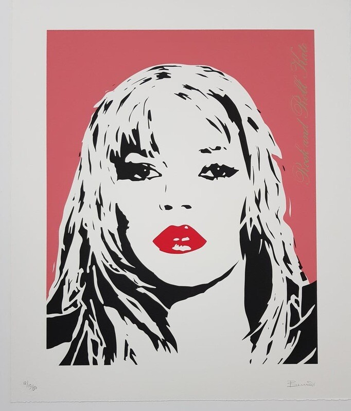 "BAMBI "" Rock And Roll Kate "" Dusky Pink Screenprint Ltd ed 40"