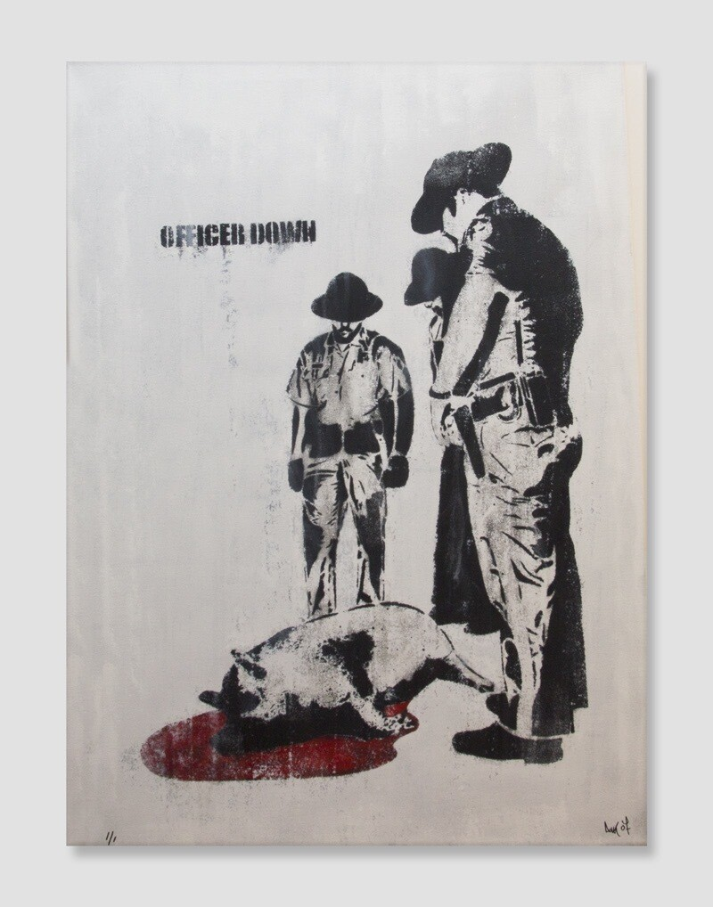 DOLK OFFICER DOWN CANVAS