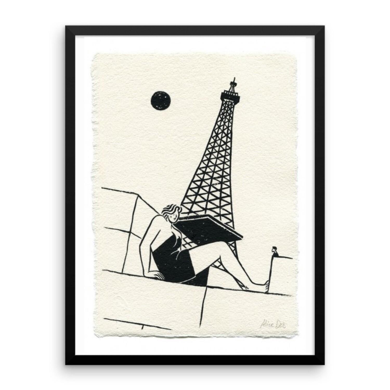 La femme et la Tour Eiffel