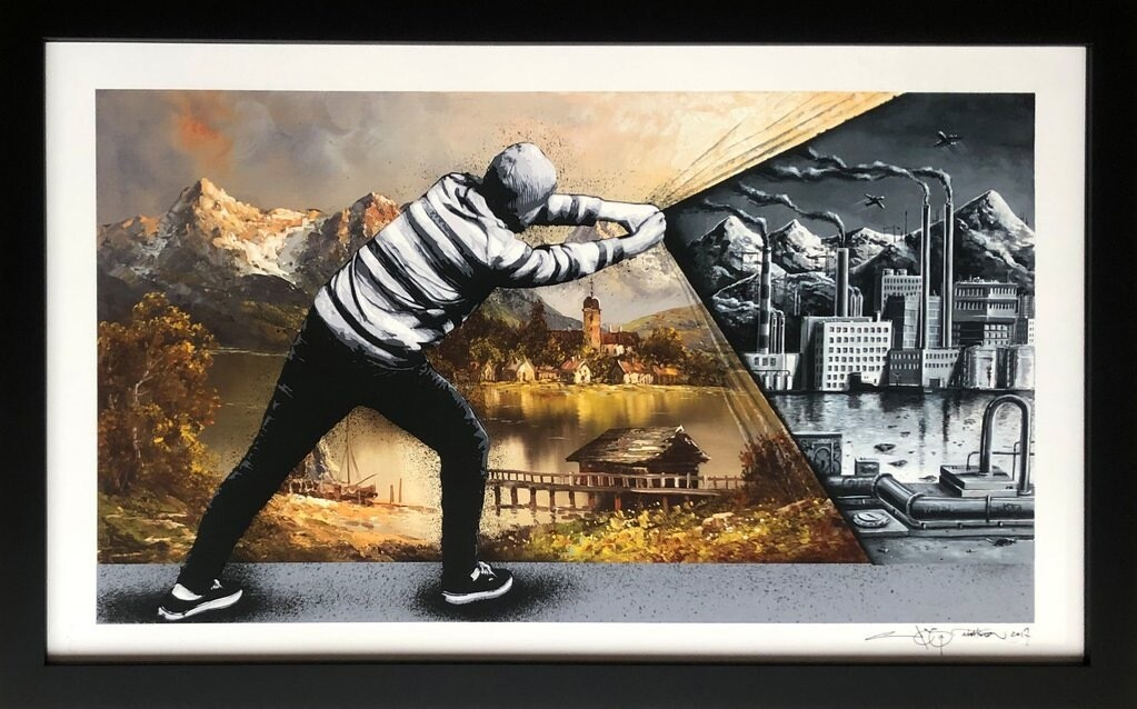 "MARTIN WHATSON & PEZ – BEHIND THE CURTAIN COLLAB – ""BACK TO THE FUTURE"" ORIGINAL 1/1"