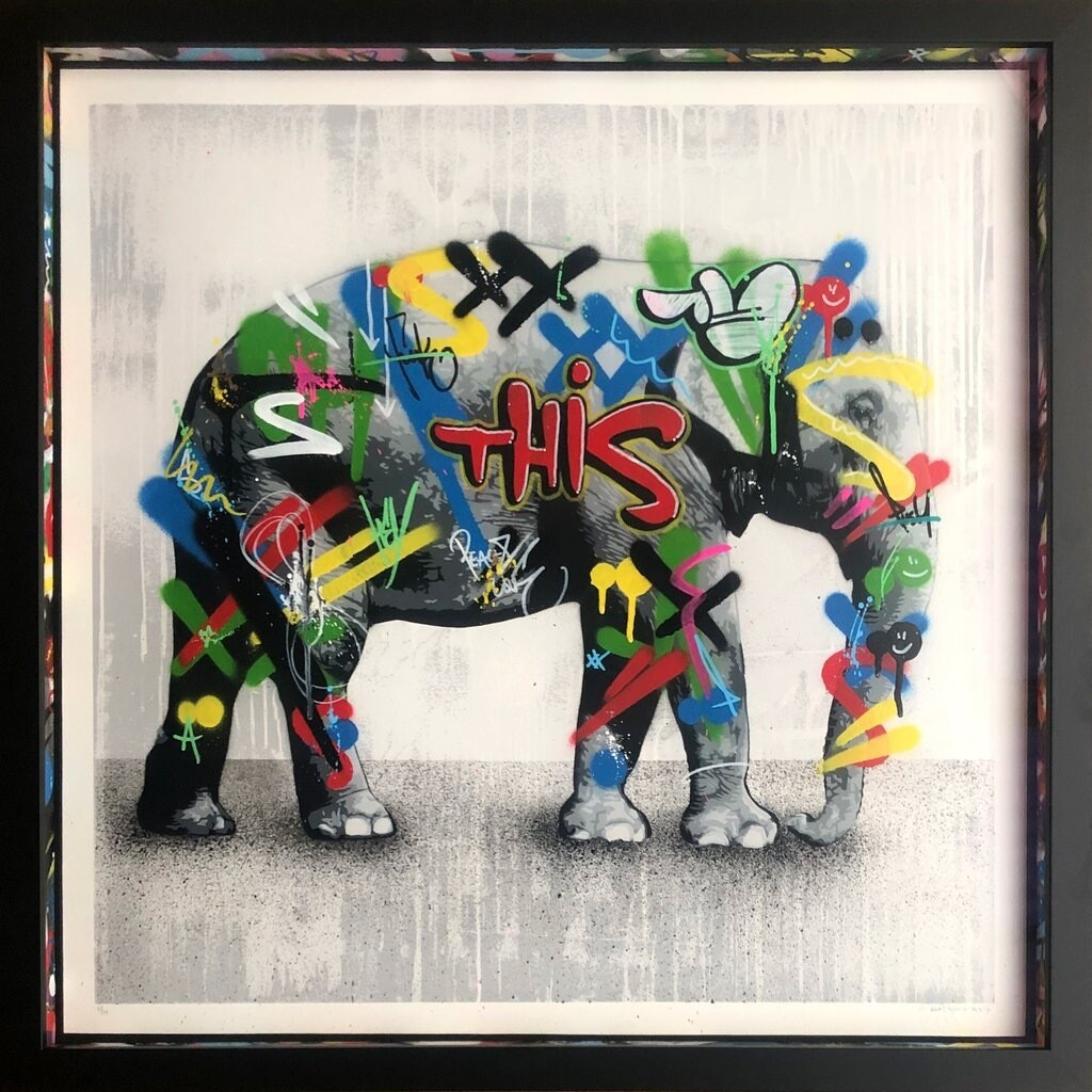"MARTIN WHATSON ""ELEPHANT"" ORIGINAL ON PAPER"