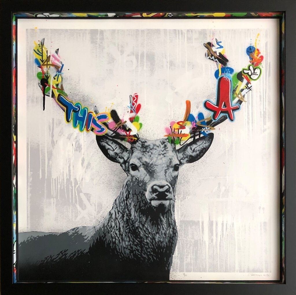 "MARTIN WHATSON ""STAG"" ORIGINAL ON PAPER"
