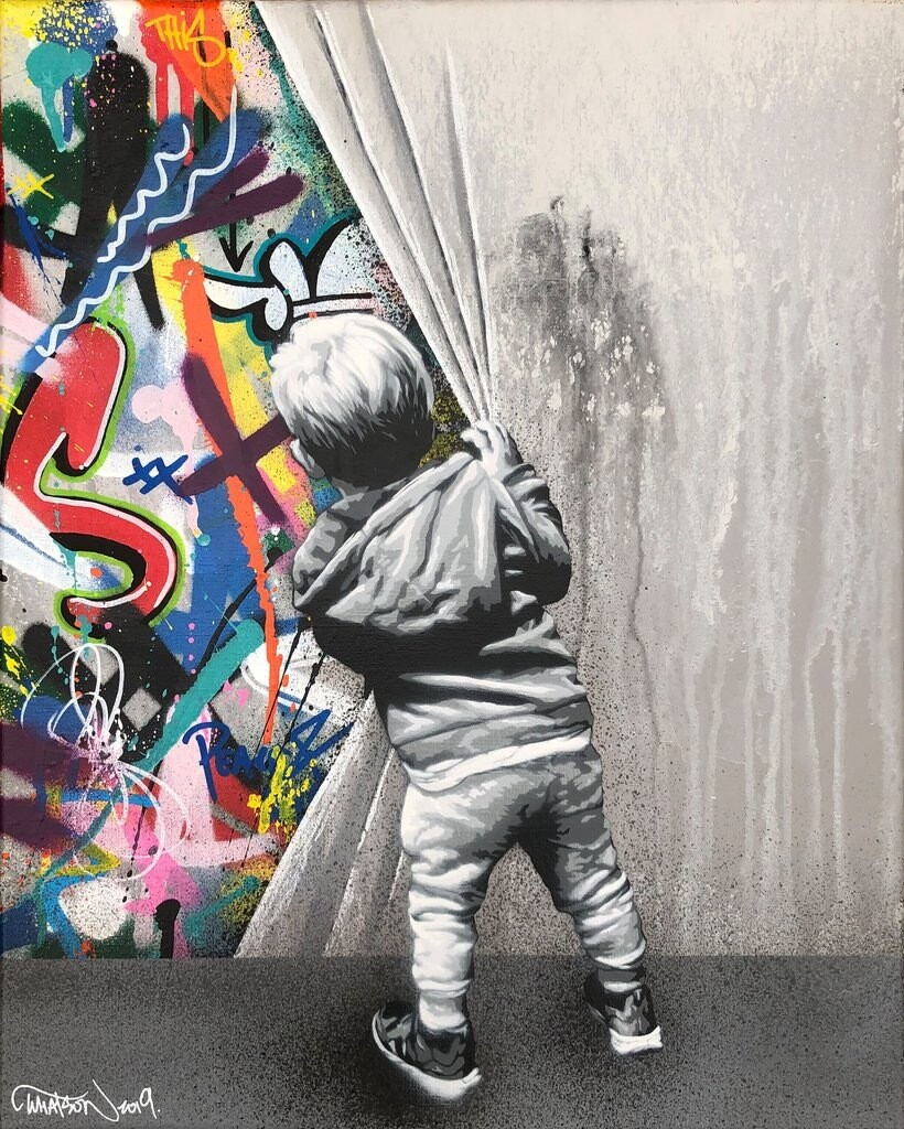 "MARTIN WHATSON ""BEYOND THE WALL"" CANVAS"