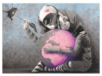AFK - Hug the World – Blue ed. Size: 50x70 & 70x100 RELEASE: 15 June