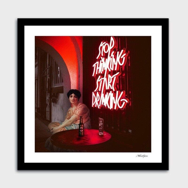 Start Drinking Art Print With Frame