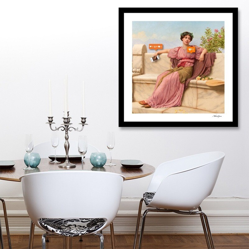 """ People "" Ready To Hang Art Print - Fast Shipping - Free Shipping To Norway"