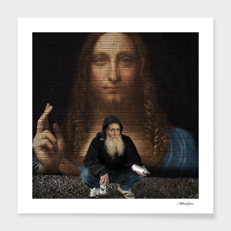 DaVinci With A Spraycan 2020 Art Print Limited Edition - Interchangeable Frame - Galleri Gunther