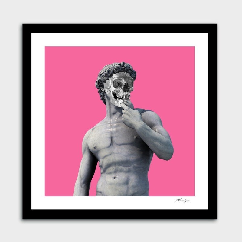 Art Print Of David And The Skull
