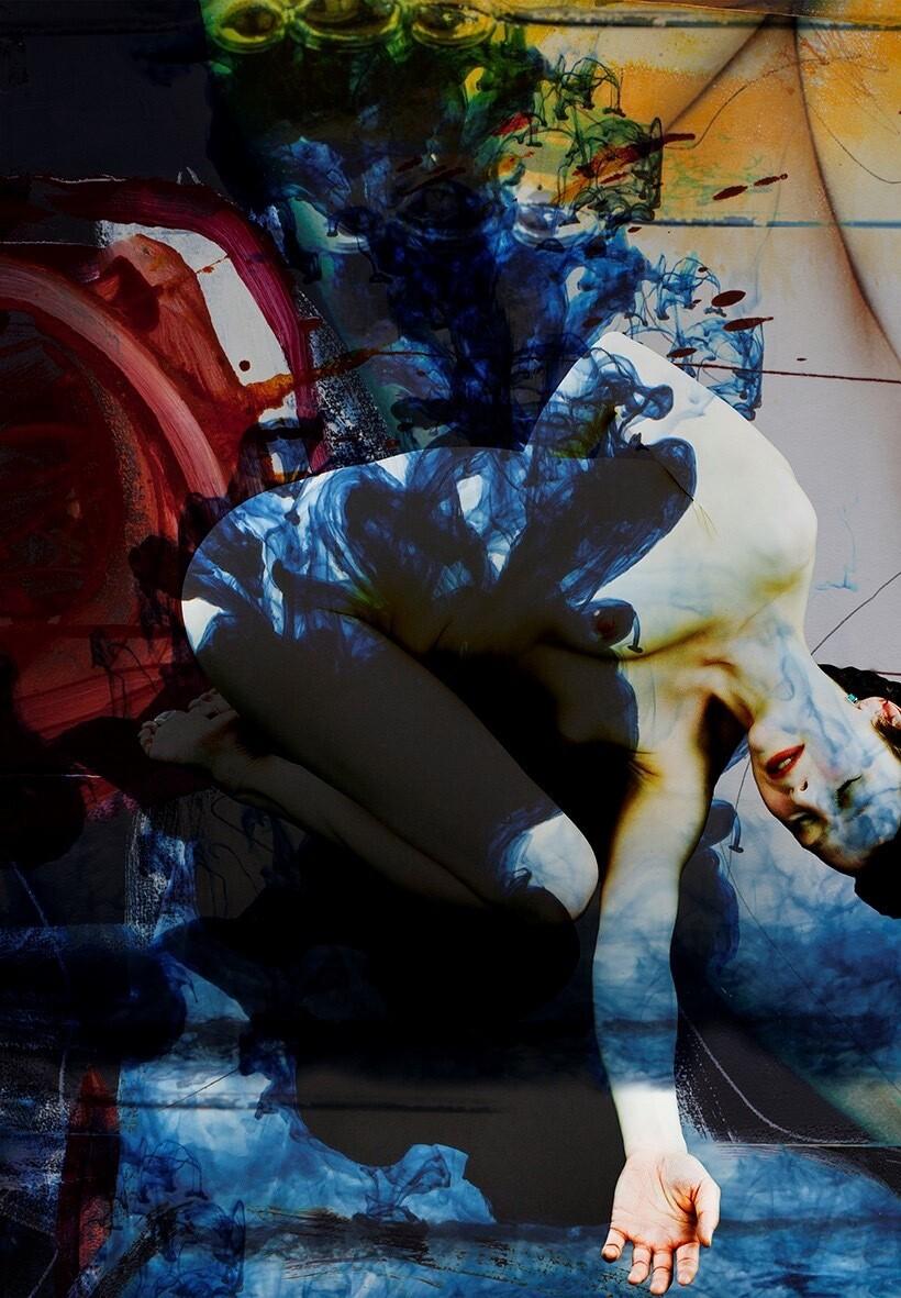 Hanne Tharaldsen Yoga Sutra 1.10 42 cm x 60 cm Opplag 45