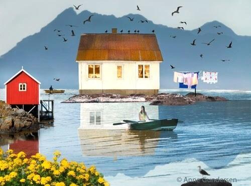 Anne Gundersen Vid havet vil jag bo Størrelse 18,5×14,5 Opplag 50