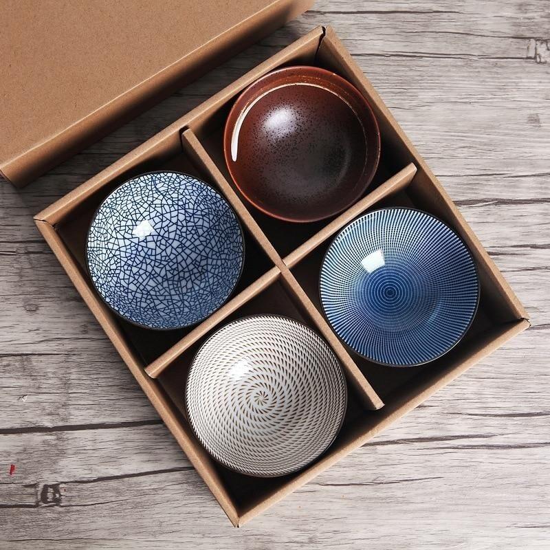 Artisan Crafted Minimalist Dipping Bowl Set X 4