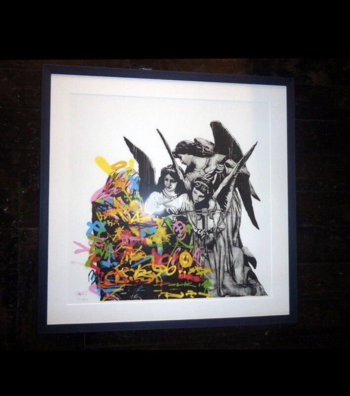 Angels - DOLK - Framed (Black Frame & White Passepartout)