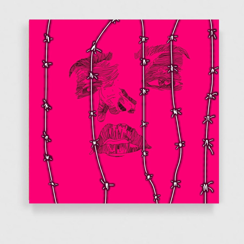 """ Concertina "" - Original On Canvas - PopArt - Laget Av Markus Isdal Günther"