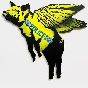 Pigs Dont Fly - British Police Pigs Version. Edition Of 3. Goinart