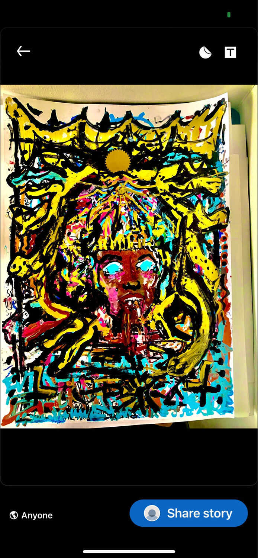 Original Art Painting Graffiti & Acrylic Paint On Art Paper Framed