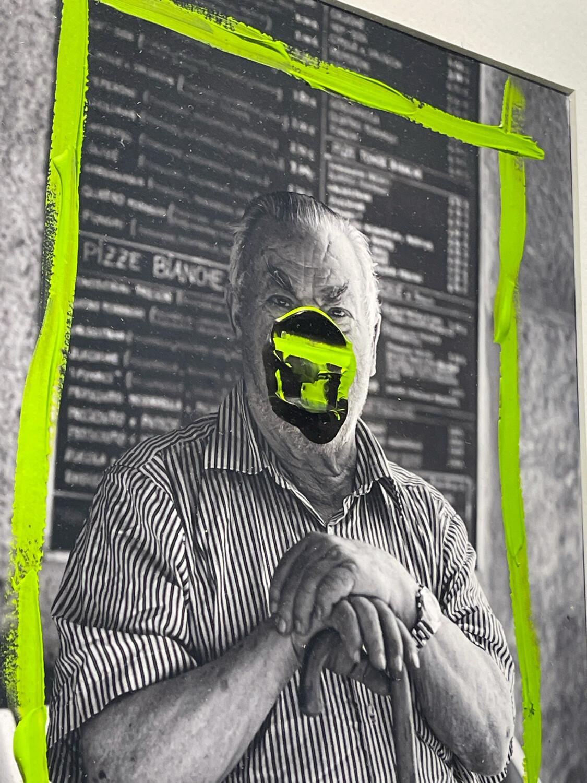 Haakon Ørland - Pizzachef - Original Photography Handfinished With Acrylic Paint - Unique Artwork