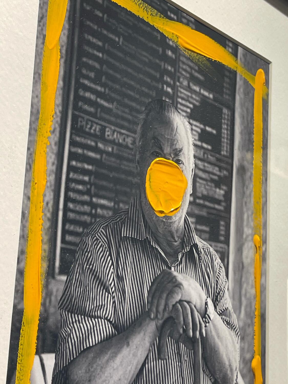 Haakon Ørland - Pizzachef - Original Photography Handfinished With Acrylic Paint - Unique Artwork 1/1