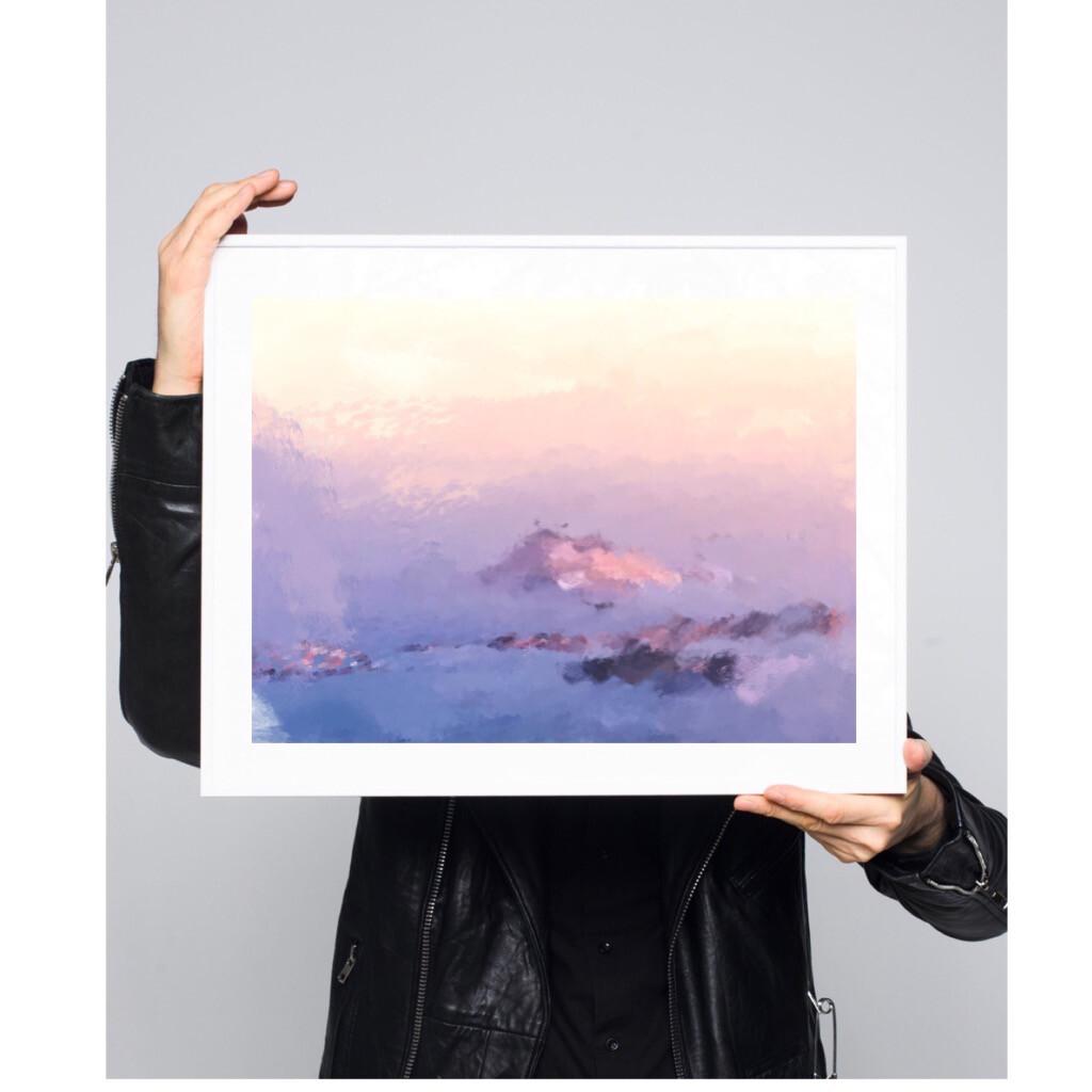 Pastel Azure - Silketrykk 50x70cm