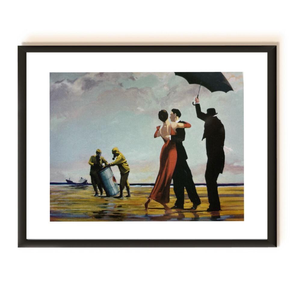 Banksy Original Souvenir - Rare Postcard - Framed And Ready To Hang Frame size: 20x15cm