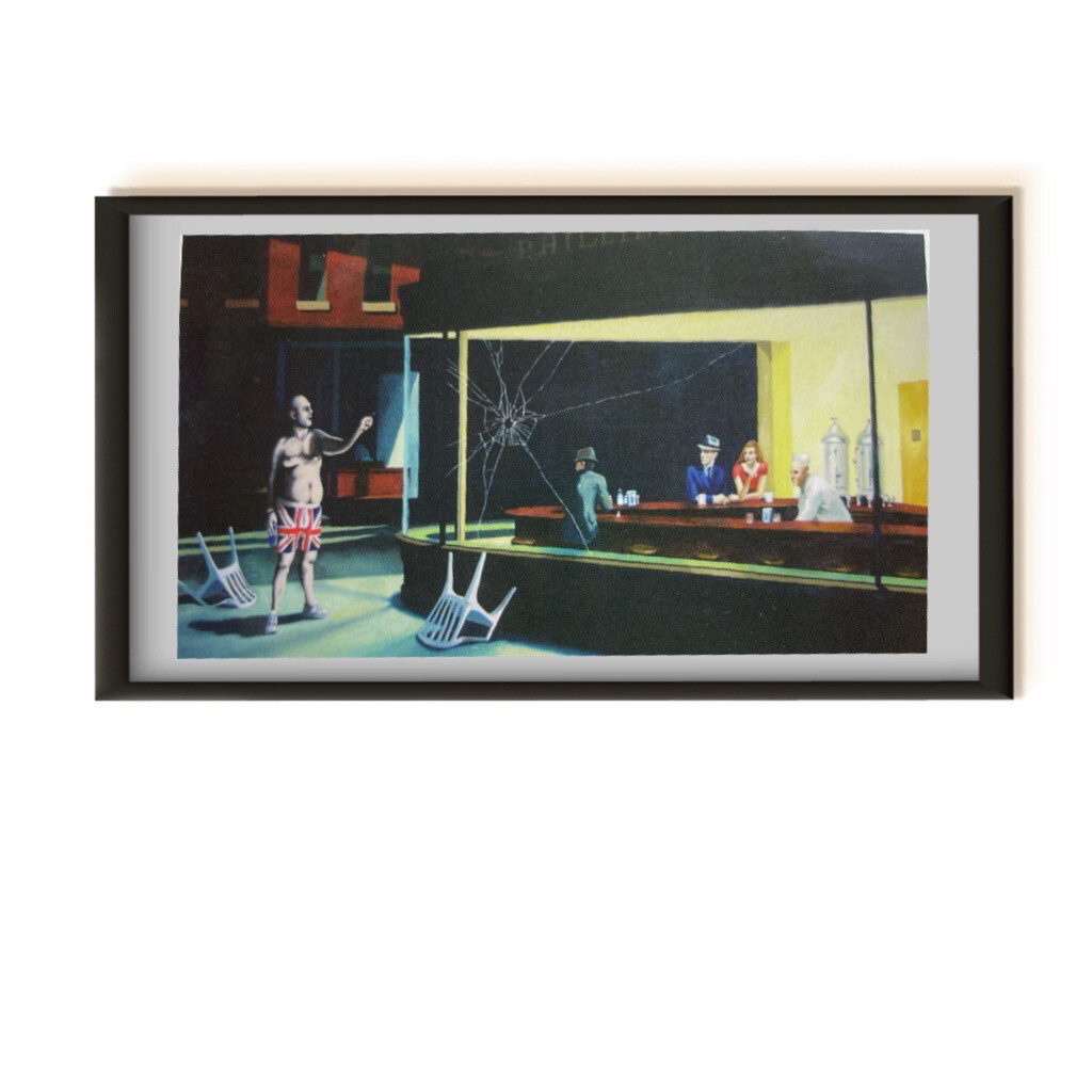 Banksy Original Souvenir - Rare Postcard - Framed And Ready To Hang Frame size: 10x15cm