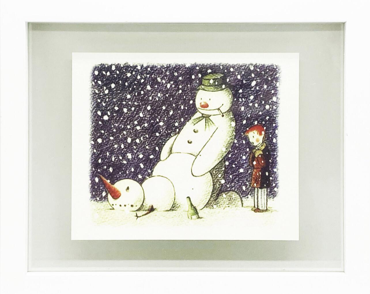 BANKSY 'Rude Snowman' Santa's Ghetto Christmas Card Framed