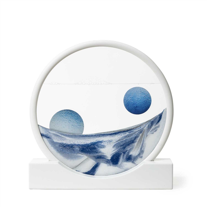 Daniel Arsham (American b.1980), 'Sand Circle Blue