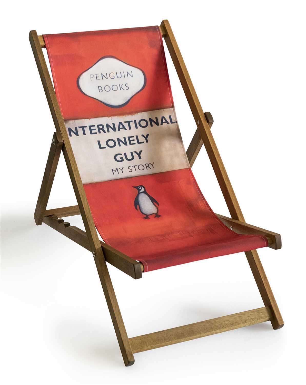 Harland Miller (British b.1964), 'International Lonely Guy (Deck Chair)', 2013