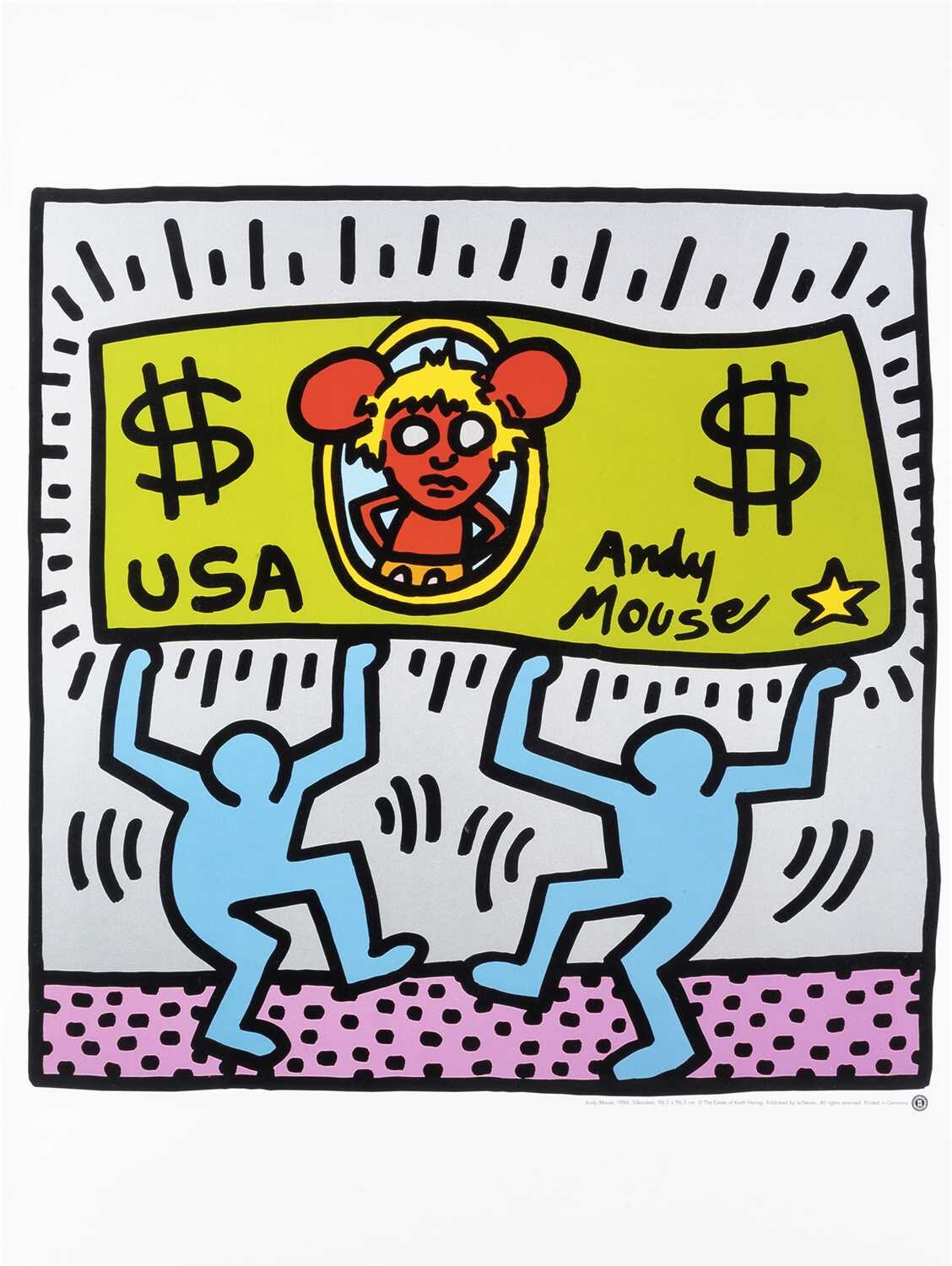 Keith Haring (American 1958-1990), 'Andy Mouse', 1986