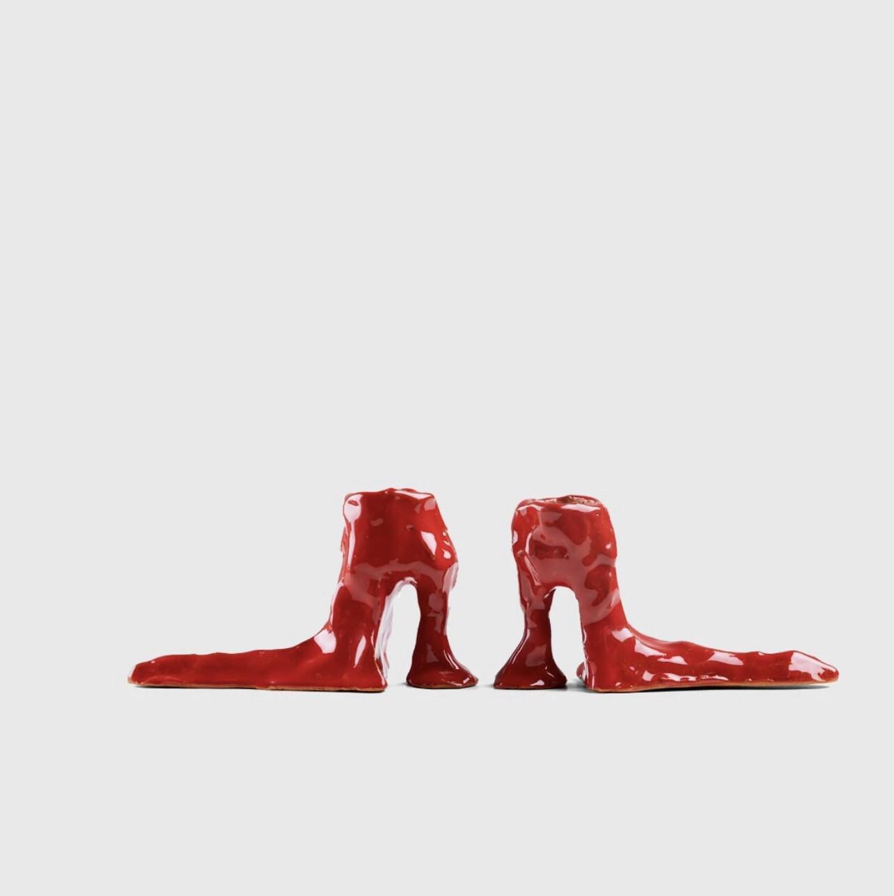 Laura Welker - Candle Holder Red 1x Left