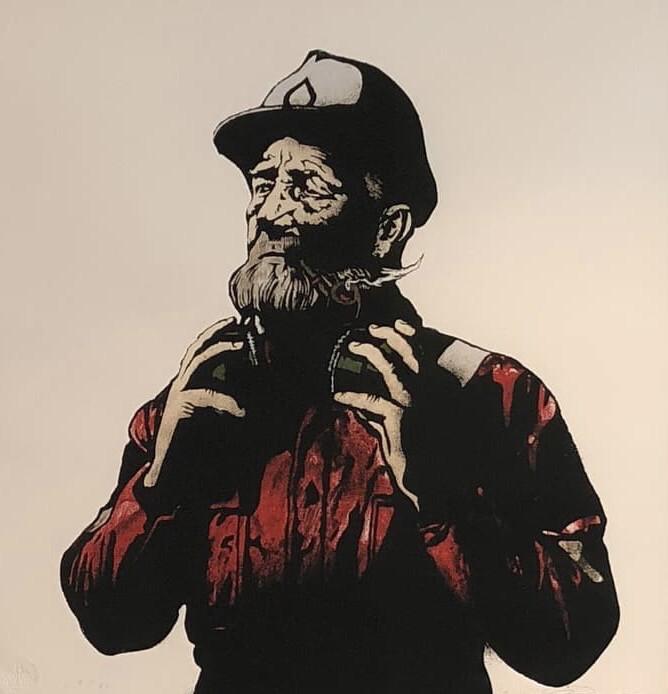 PØBEL Pipe Smoking Fisherman Red Edition